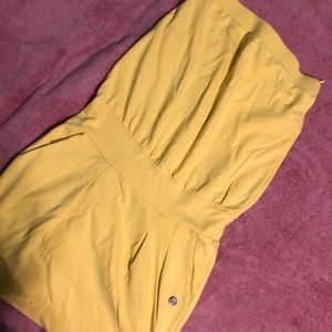 MNG yellow strapless dress used